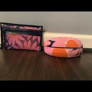 Vera Bradley zipper pouch and glasses case.